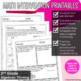 2nd Grade Math Intervention Algebraic Thinking Guided Math RTI Math Resources