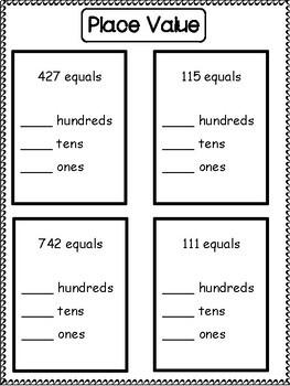 2nd Grade Math Intervention Binder