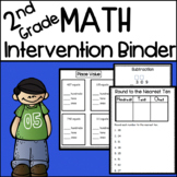 2nd Grade Math Intervention Binder
