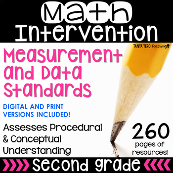 2nd Grade Math Intervention MEASUREMENT AND DATA Guided Math RTI Math Resources