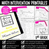 2nd Grade Math Intervention RTI YEARLONG BUNDLE Digital & Print EASY Test Prep