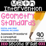 2nd Grade Math Intervention Pack GEOMETRY NO PREP Guided Math RTI Math Resources