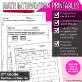 2nd Grade Math Intervention Place Value NBT Guided Math RT