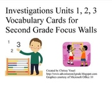 2nd Grade Math Investigations Vocabulary Cards: Units 1, 2, 3