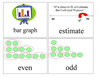 2nd Grade Math Investigations Vocabulary Cards: Units 1, 2, 3