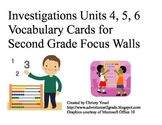 2nd Grade Math Investigations Vocabulary Cards:  Units 4, 5, 6