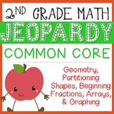 2nd Grade Math Jeopardy: Geometry, Partitioning, Fractions