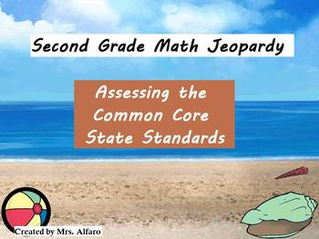 2nd Grade Math Jeopardy ~ Assessing the CCSS Promethean/ClassFlow Flipchart Game