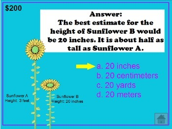 2nd Grade Math Jeopardy ~ CCSS PowerPoint Spring / Easter Theme ~ Test Prep Game