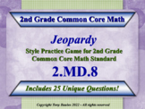 2nd Grade Math Jeopardy Game - Solve Money Word Problems 2.MD.8