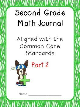 2nd Grade Math Journal Part 2 CCSS aligned extended responses