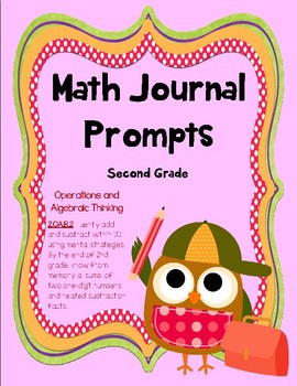 2nd Grade Math Journal Prompts