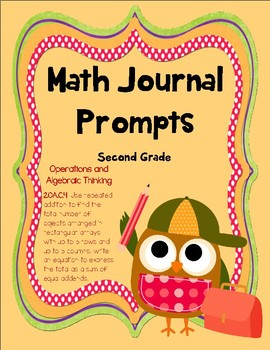 2nd Grade Math Journal Prompts -- Differentiated!