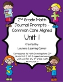 2nd Grade Math Journal Prompts - Unit 1 Investigations