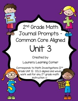 2nd Grade Math Journal Prompts - Unit 3 Investigations