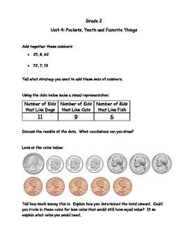 2nd Grade Math Journal Prompts - Unit 4 Investigations