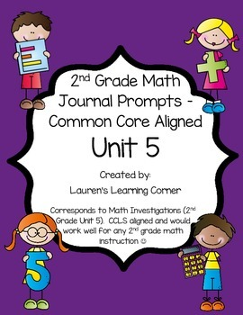 2nd Grade Math Journal Prompts - Unit 5 Investigations