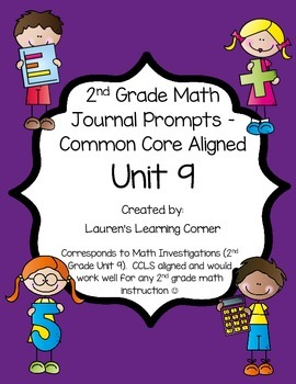 2nd Grade Math Journal Prompts - Unit 9 Investigations