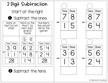 Second Grade Guided Math Journals Double Digit Addition & Subtraction