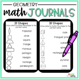 2nd Grade Math Journals {Geometry}