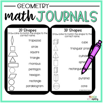 2nd Grade Math Journals {Geometry}