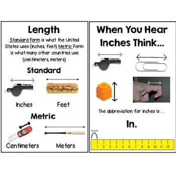 Second Grade Guided Math Journals Measurement