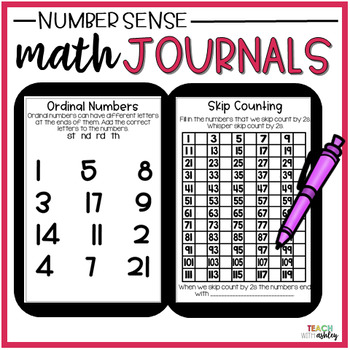 Second Grade Guided Math Journals Number Sense