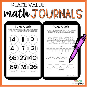 Second Grade Place Value Guided Math Journals