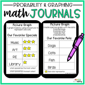2nd Grade Math Journals {Probability & Graphing}