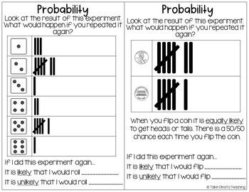 Second Grade Guided Math Journals Probability & Graphing