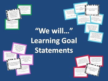 2nd Grade Math Learning Goal Cards