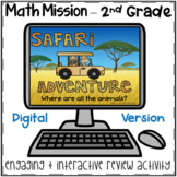 2nd Grade Math Digital Escape Room-End of Year Review Myst