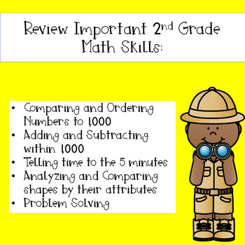 2nd Grade Math Mission - Escape Room - Safari Mystery End of Year Review