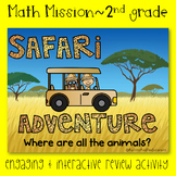 2nd Grade Math Mission - Escape Room - Safari Mystery End