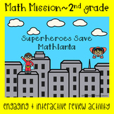 2nd Grade Math Mission-Escape Room-Superheroes Time and Money End of Year Review