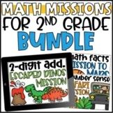 2nd Grade Math Missions Growing Bundle