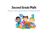 2nd Grade Math Missouri Learning Standards Checklist of Skills