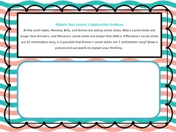 2nd Grade Math Module 2 Application Problem Bundle