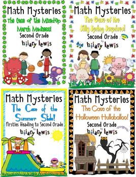 2nd Grade Math Mysteries 8 Pack - Shipped CD