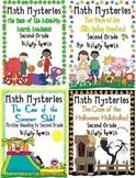 2nd Grade Word Problems - Math Mysteries 10 Pack Bundle