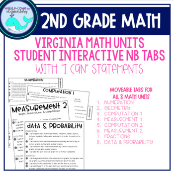 2nd Grade Math Notebook Learning Target Tabs (VA)