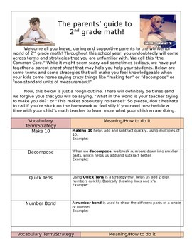 2nd Grade Math-Parent Guide