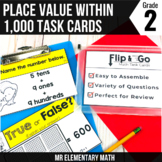 Place Value within 1,000 Task Cards 2nd Grade Math Centers