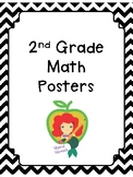 2nd Grade Math Posters with Black & White Borders