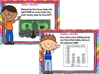 2nd Grade Math Test Prep PowerPoint Game Show