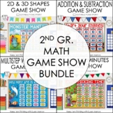 2nd Grade Jeopardy Math Review: Jeopardy Game Show Bundle