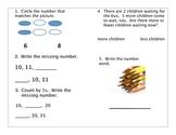 2nd Grade Math Pre/Post Assessment