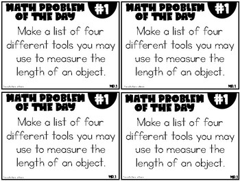 2nd Grade Math Problem of the Day (2nd Nine Weeks)