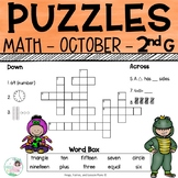 2nd Grade Math Crossword Puzzles - October