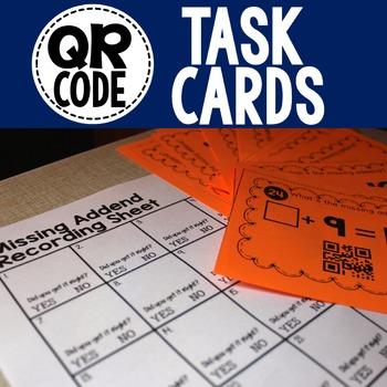 QR Code Math Task Card Bundle